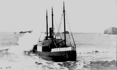 SS Phyllis - Wrecked March 9, 1936